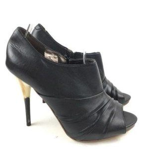 New Carlos Ankle Boots Size 6 Peep Toe Zip Booties